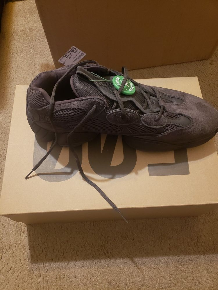 official photos fee92 9b1a8 100 authentic Adidas Yeezy 500 Utility Black F36640 Size 14 ...