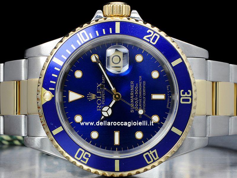 più recente bd2b5 30695 Rolex Submariner Data - Ref. 16613 Cassa 40mm in acciaio e ...