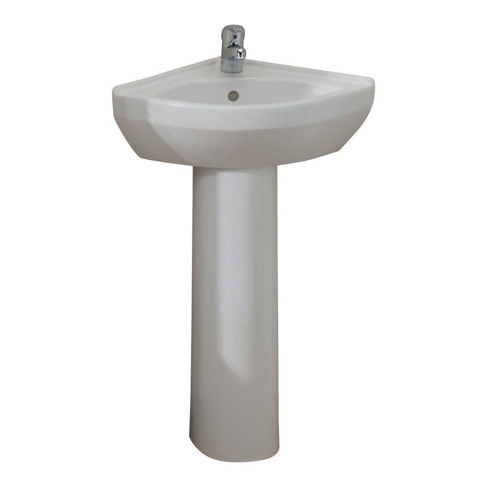 Cheviot Petite Corner Pedestal Bathroom Sink White Corner Pedestal Sink Pedestal Sink Sink