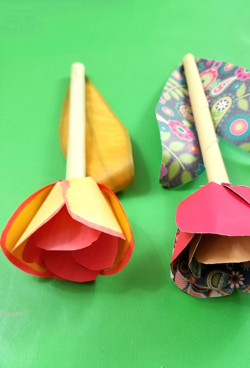 make some adorable scrappy paper tulips pinterest free printable