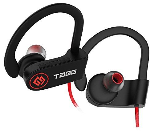 e9a96a08266 TAGG® Inferno, Wireless Bluetooth Headset Headphone With Mic + Free Carry  Case/Sweatproof Earphone/Best For Running