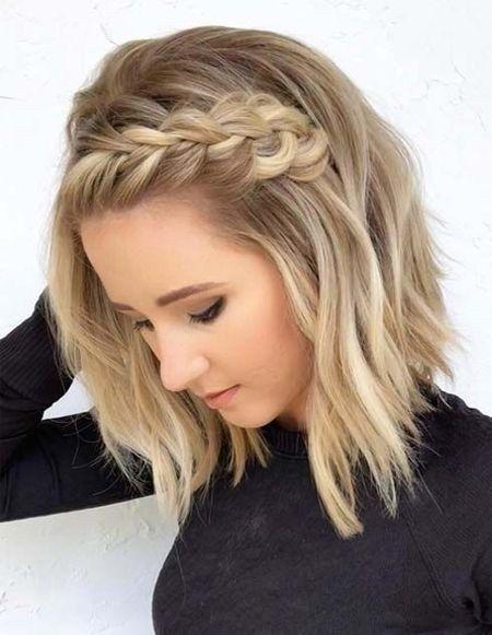 Latest Braids Ideas For Short Hair12 Short Hair Updo Hair Waves Loose Waves Hair