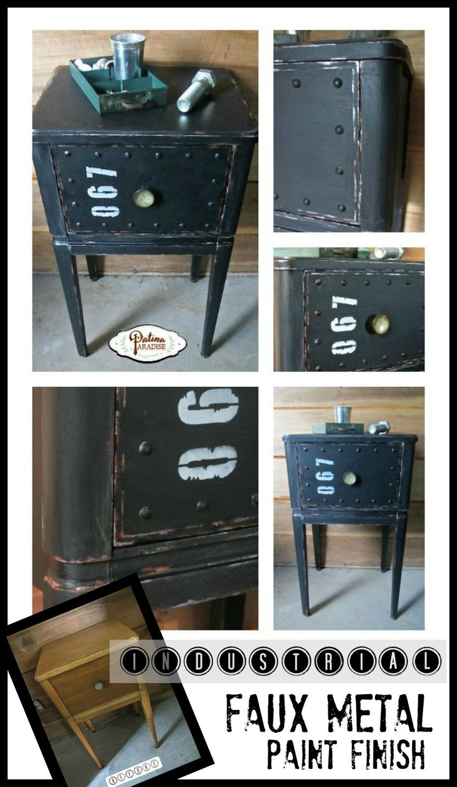 Make Wood Furniture Look Like It Has A Metal Industrial Look With A Paint Finish That Is Easy To