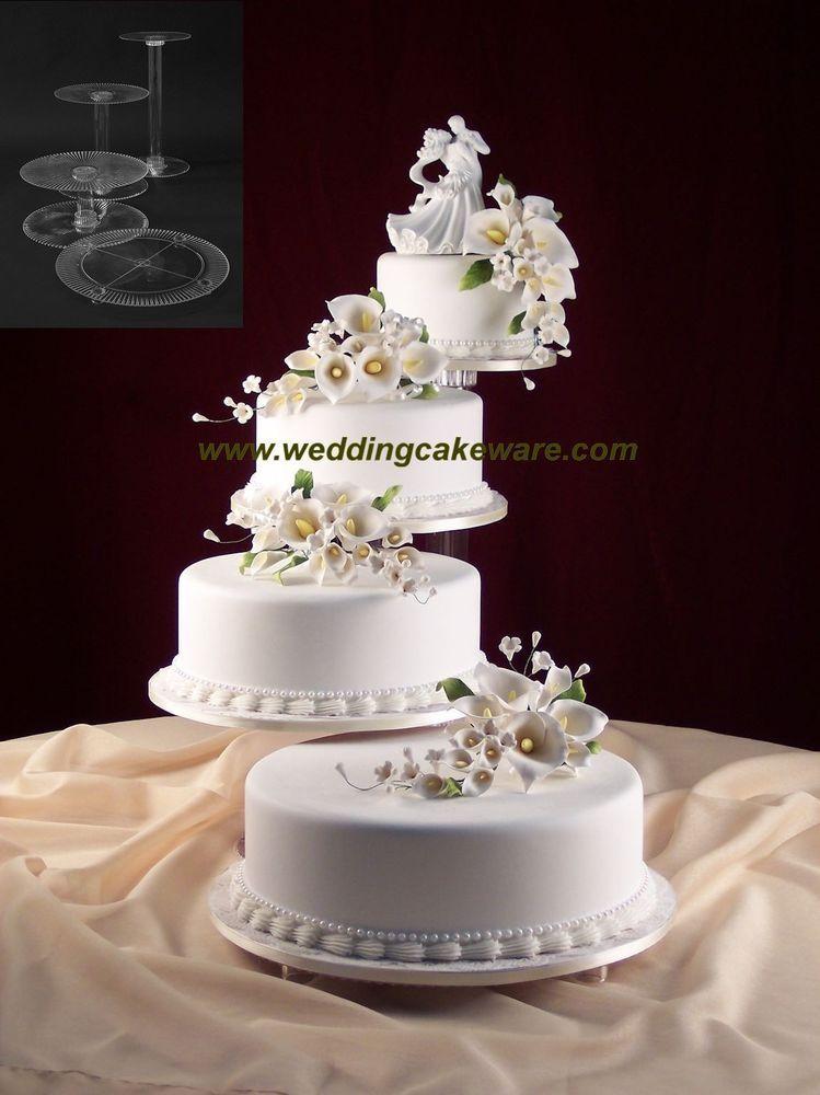 STYLE R403 4 TIER CASCADE WEDDING CAKE STAND