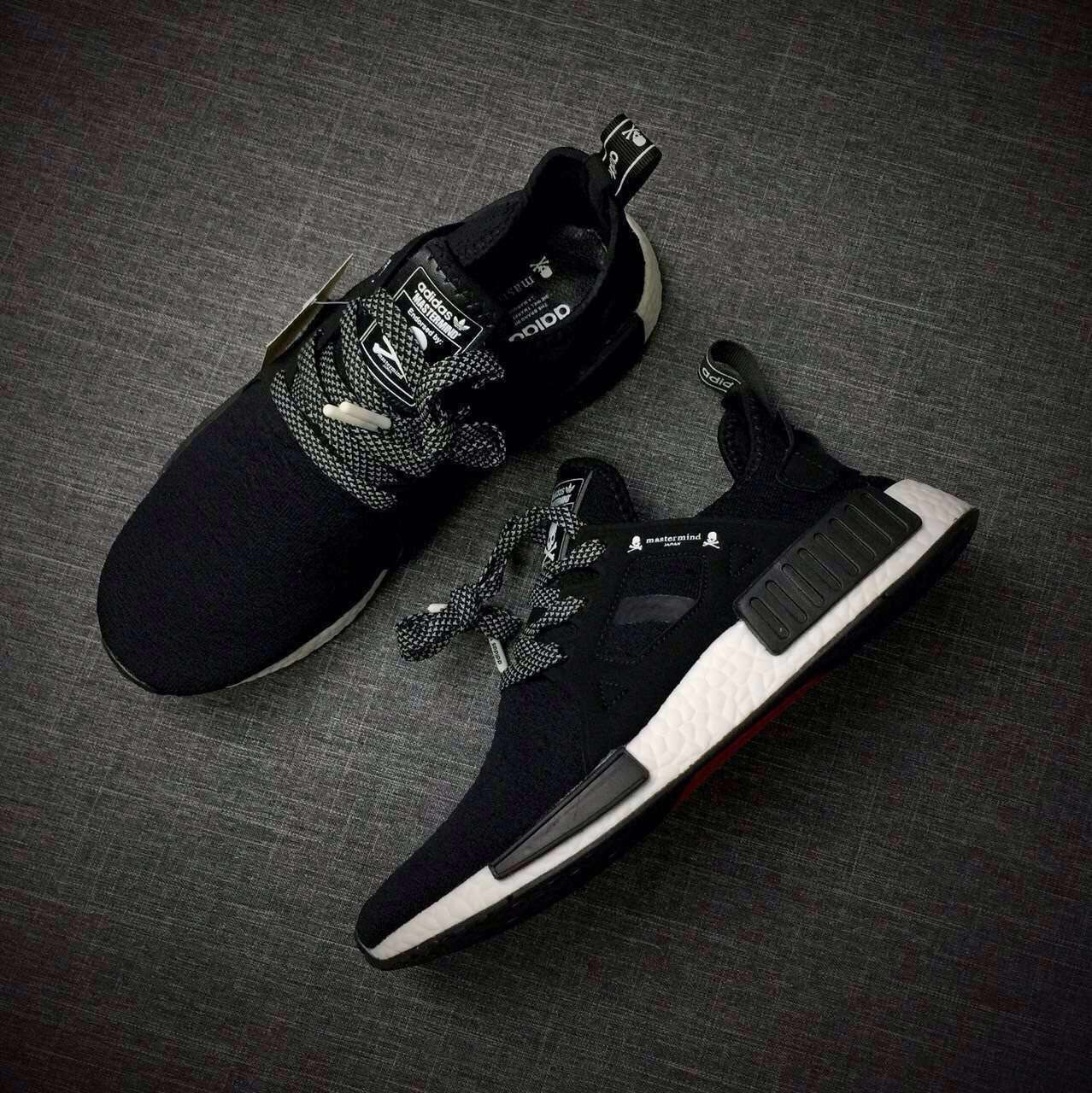 size 40 7c3f4 24517 Top Version Adidas Originals NMD X Mastermind Black They ...