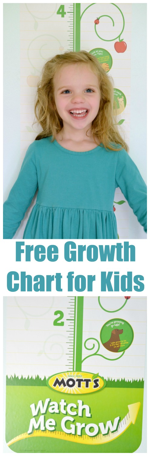 Children's Keepsakes – Growth Charts for Kids. How do you chart your child's growth? Learn how you can get a free Kids Growth Chart from @Motts #WatchMeGrow #ad