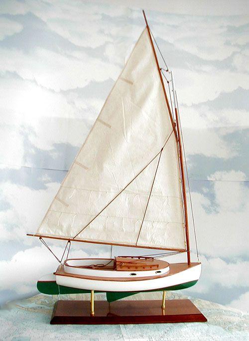 Catboat model marshall sanderling 18 catboat model for 68 garden design gaff rigged schooner