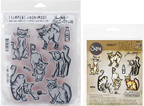 Tim Holtz Crazy Cats Cling Rubber Stamps and Thinlits Die... https://www.amazon.com/dp/B01DB78OD8/ref=cm_sw_r_pi_dp_rt5BxbVJPZ60A