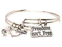 BANGLE SET FREEDOM ISNT FREE BRACELETS