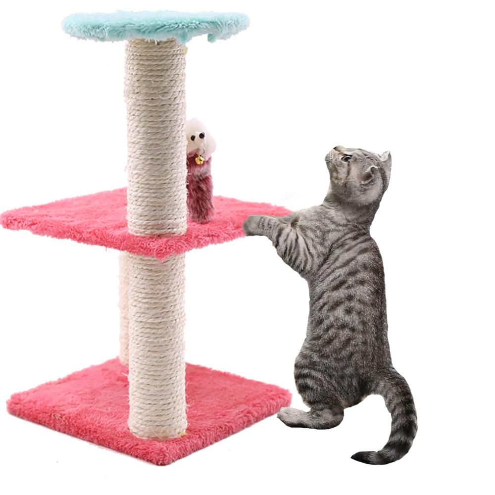 Cats Tree Scratcher Funny Kitten Scratching Post Mouse Plush Cat Climbing Frame Toy Activity Protecting Furniture Pet House Attention Valid Discount 32 V 2020 G