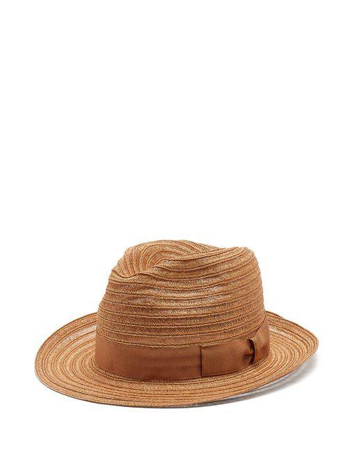 Ribbon-embellished panama hat Borsalino Fc1XzW