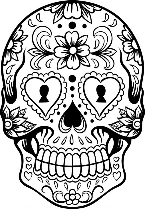 Sugar Skull Coloring Page  Abstract Coloring Pages  Pinterest