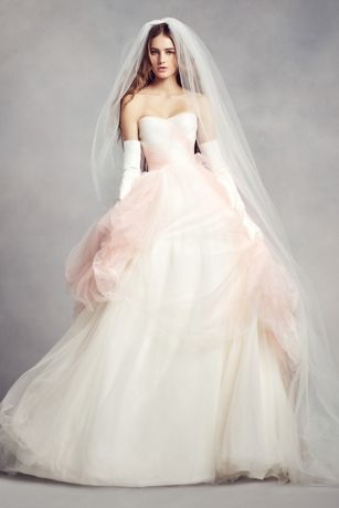 White By Vera Wang Ombre Tulle Wedding Dress Style Vw351322 Ivory