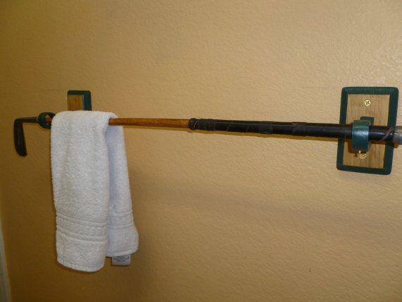 Antique Hickory-Shaft Golf Club Towel Rack by TheFletcherStudios