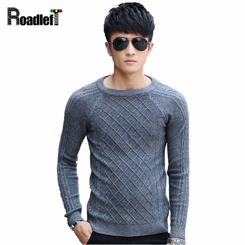 Mens Spring   autumn slim fit thin knit sweater Men fashion casual long  sleeve pullover male 3f2bffcb1