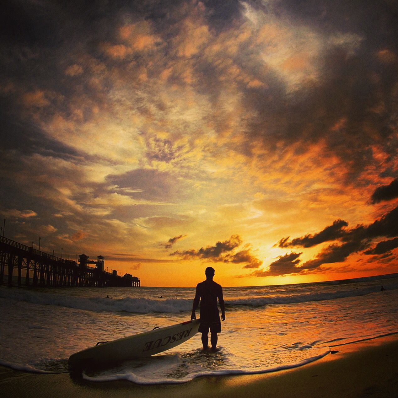 Clocking out at sunset in Oceanside CA. Photo by Jorden Pierson , love it