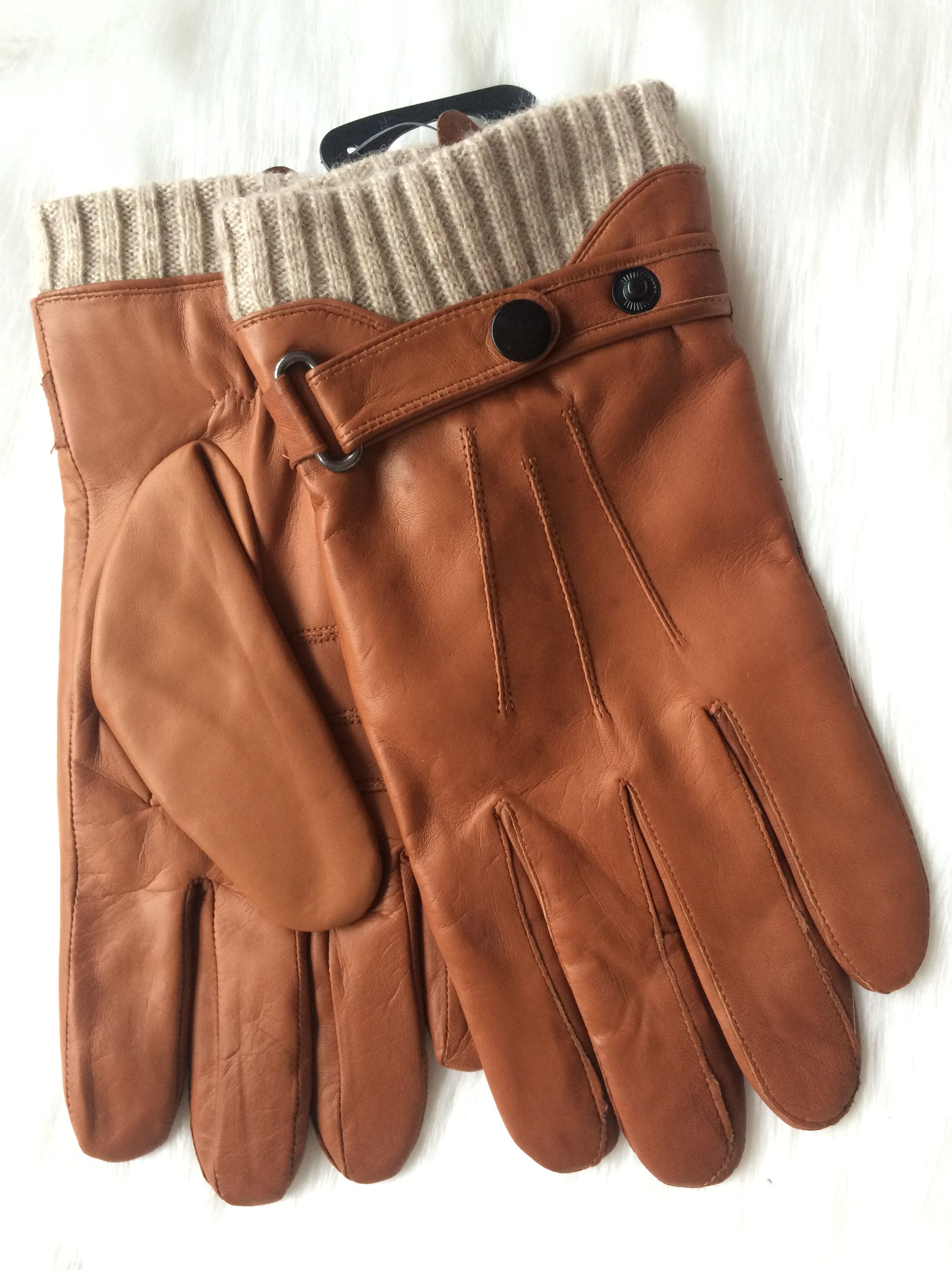 MEN'S LEATHER DRESS FASHION WINTER WARMING VINTAGE CLASSIC QUALITY GLOVES