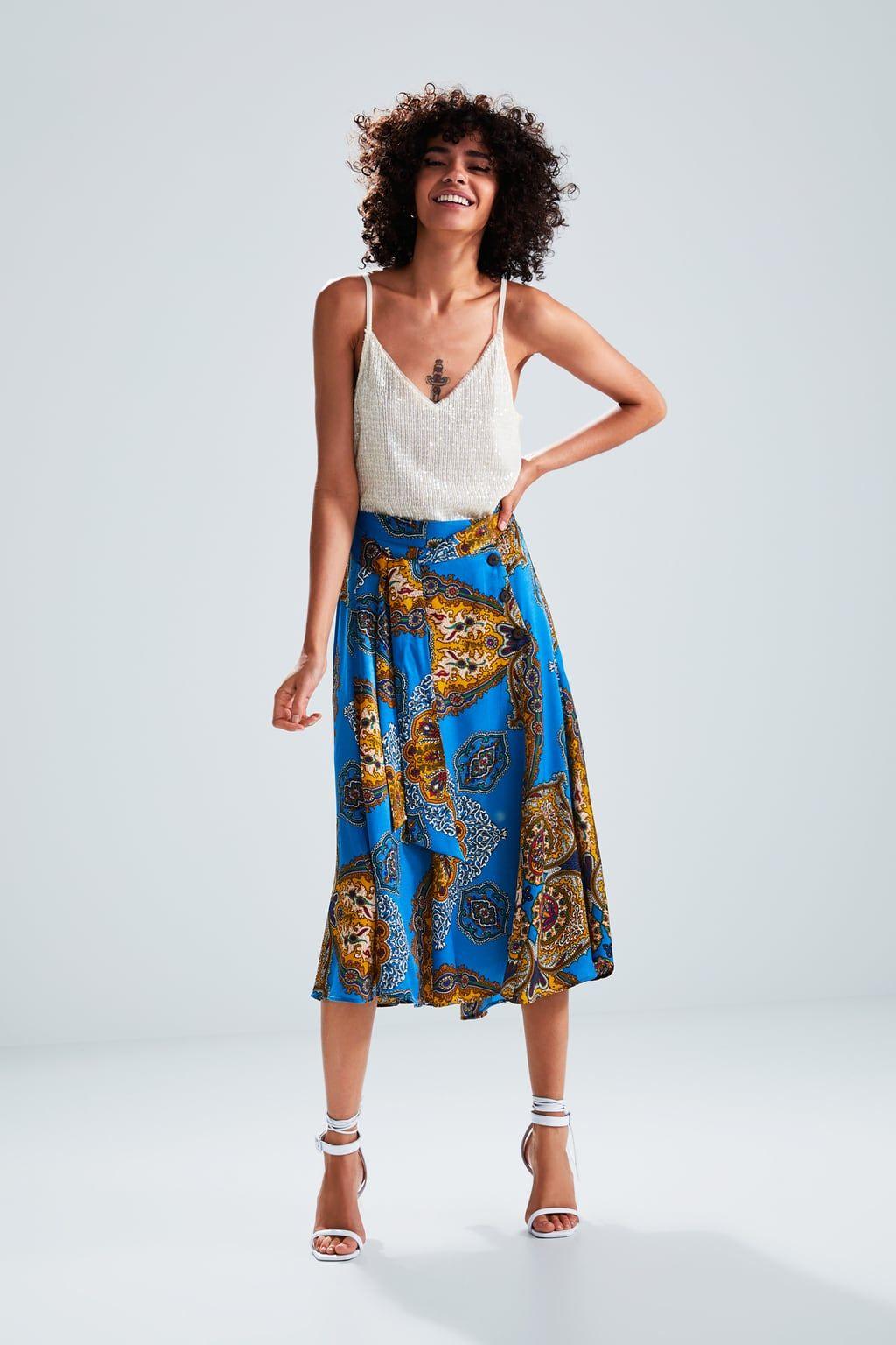 83572b9b6 Printed skirt in 2019 | Zara | Printed skirts, Skirts, Flowy skirt