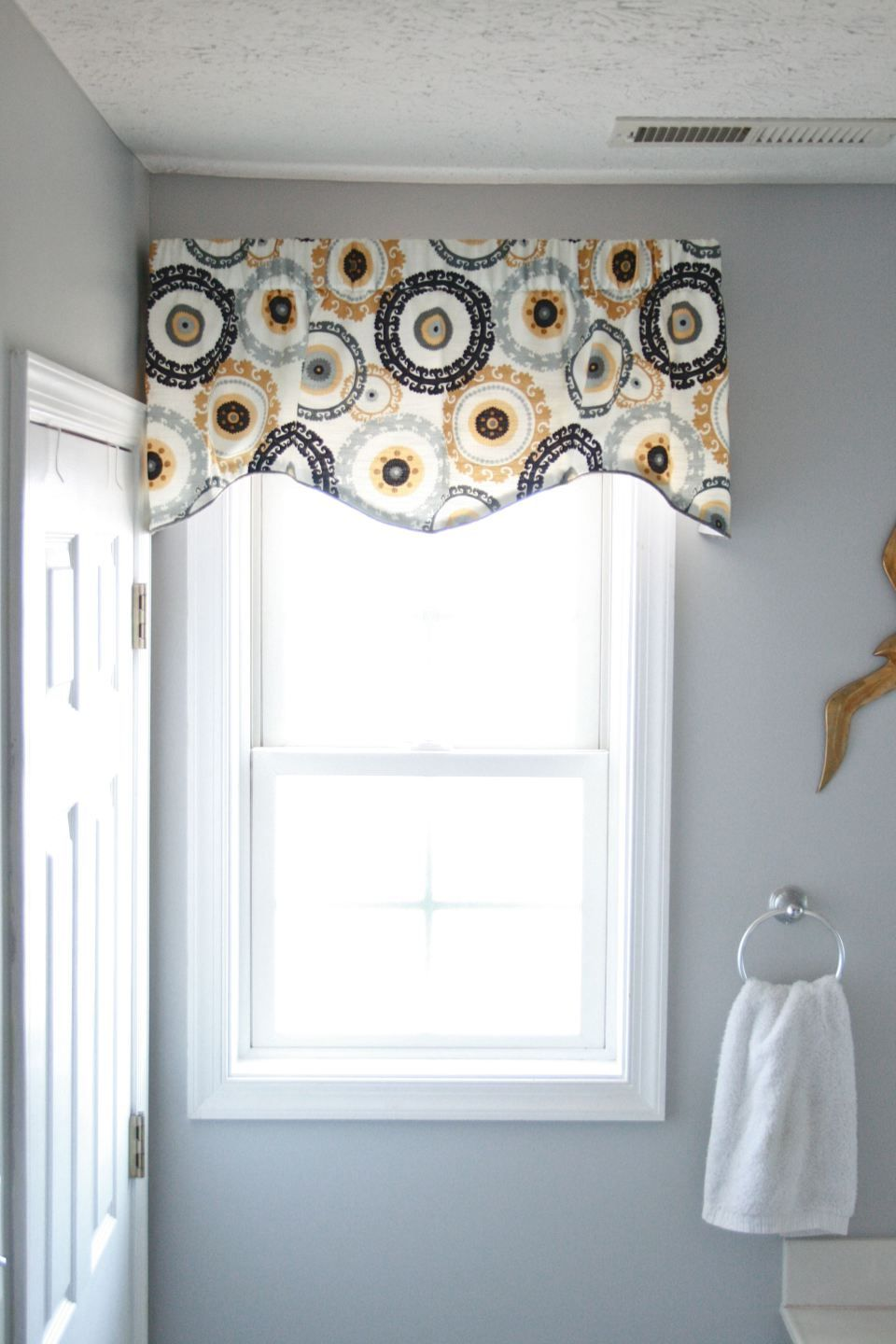 Throwing A Curve Ball In The Bathroom Bathroom Valance Small Bathroom Window Curtains