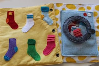 sock matching - store in dryer, match to opposing page (colored velcro for attachment)