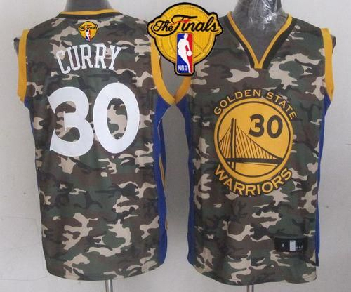 0f9ee9151 Warriors #30 Stephen Curry Camo The Finals Patch Stitched NBA Jersey ...