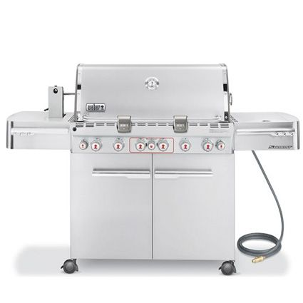 Weber Summit S 670 6 Burner Natural Gas Grill With Rotisserie Side Burner Gas Grill Best Gas Grills Natural Gas Grill