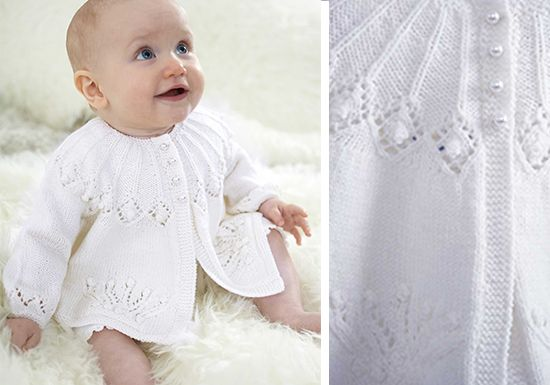 Patons Royal Baby Matinee Coat Free Knitting Pattern Cardigan