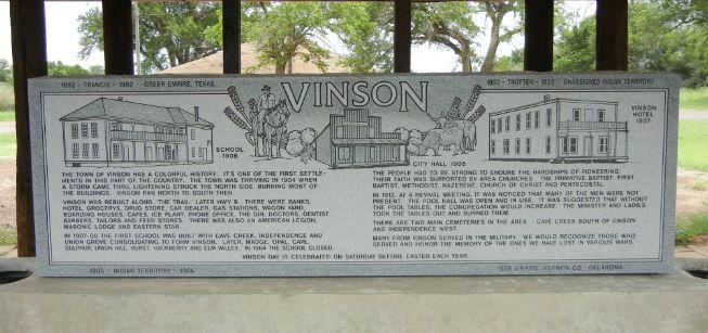 Vinson School And Community Memorial Historical Marker Granite Memorial School