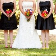 hmm black & white wedding?!?! hmm maybe not black but a different color !