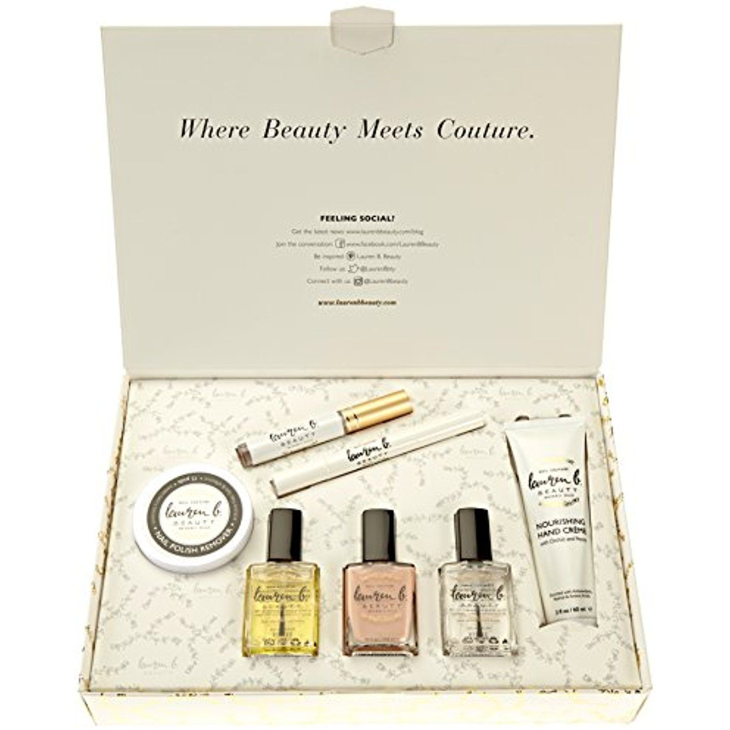 Lauren B. Beauty Luxury Collection Treatment Products, 3 Polishes ...