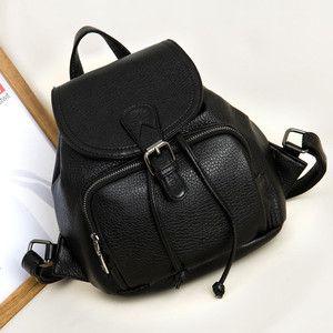 Faux-Leather Drawstring Backpack   Torby/Torebki/Plecaki/Saszetki ...