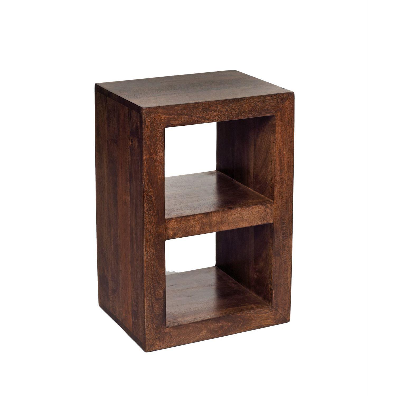 Toko Dark Mango Two Hole Cube Display Unit Cube Shelving Unit Mango Wood Indian Furniture [ 1500 x 1500 Pixel ]
