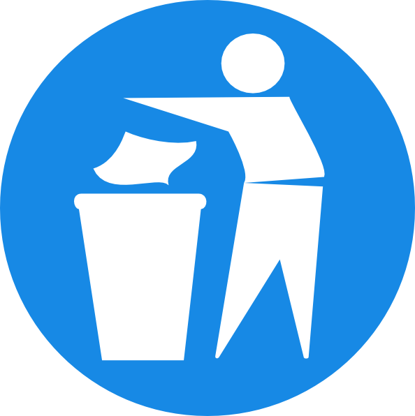 Throw It In The Bin Logo Google Search Sticker Sign Recycle Symbol Pictogram