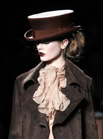 TOP HAT: By John Galliano for Christian Dior, shown March 2010 in Paris.