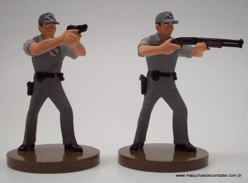 Soldados em Resina da Polícia Militar do Estados de São Paulo. www.maquinasdecombate.com.br