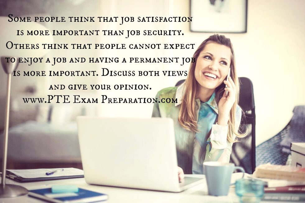 Pin by PTE Exam on PTE Essay Topics Job satisfaction