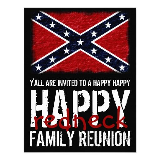 Funny Redneck Family Reunion Happy