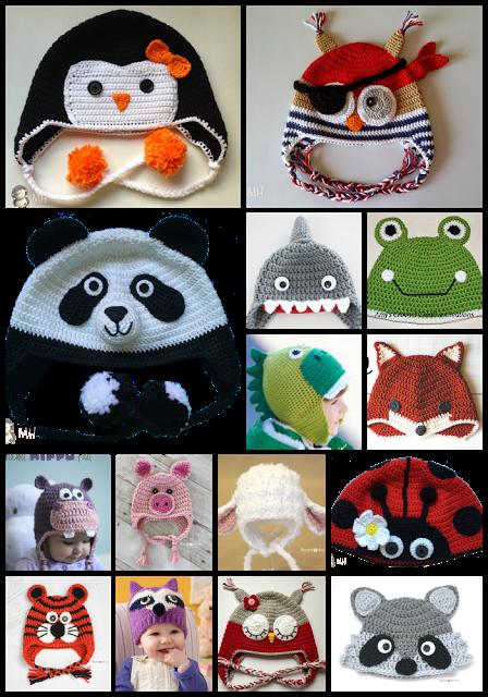 Montonazos de patrones gratuitos para Gorros de animalitos a crochet ... a85d2d7f6f5