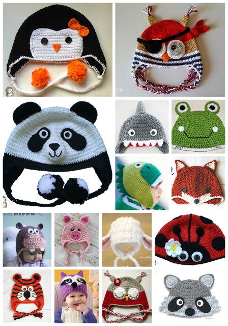 Montonazos de patrones gratuitos para Gorros de animalitos a crochet ...