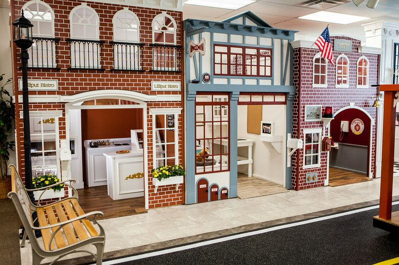Play Town With Bistro Vet And Firehouse Play Houses Country Home Exteriors Luxury Playhouses