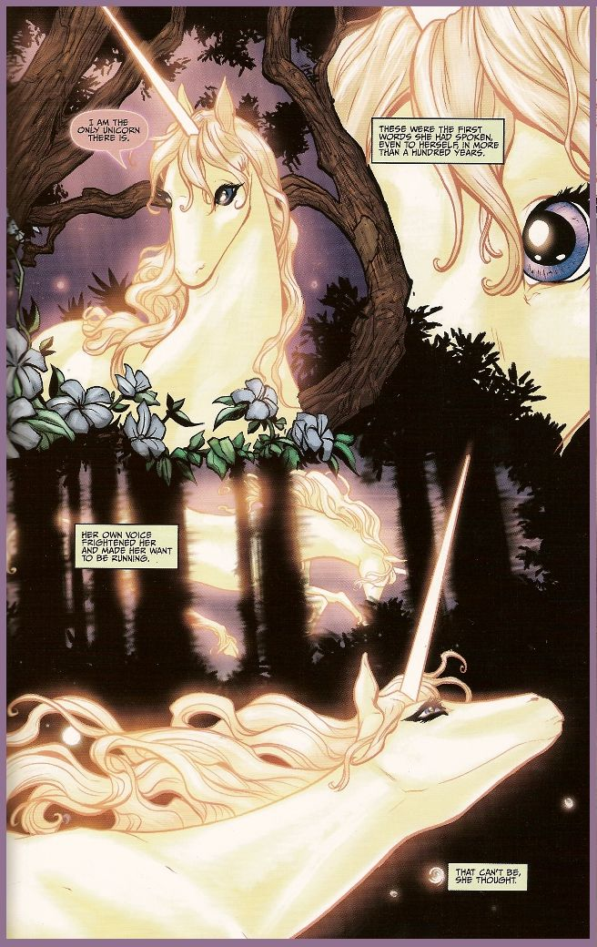 Art From The Last Unicorn Graphic Novel By Renae De Liz And Ray