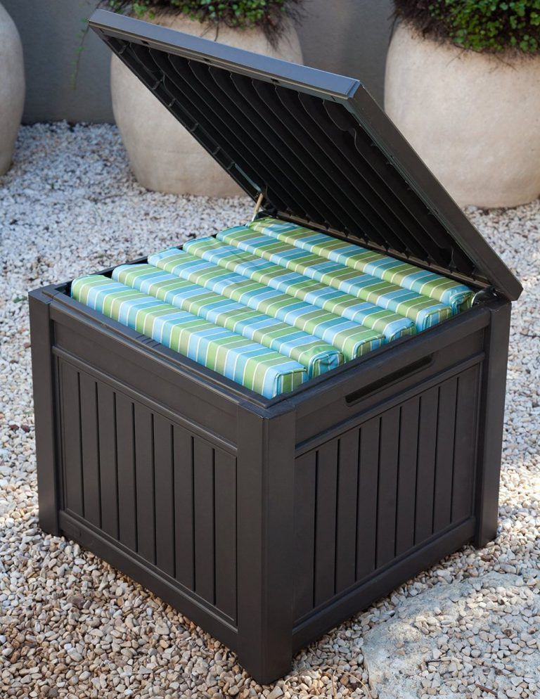 Outdoor garden cube. Very popular, attractive storage cube