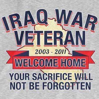 Iraq war Veterans 2003 - 2011 Welcome Home