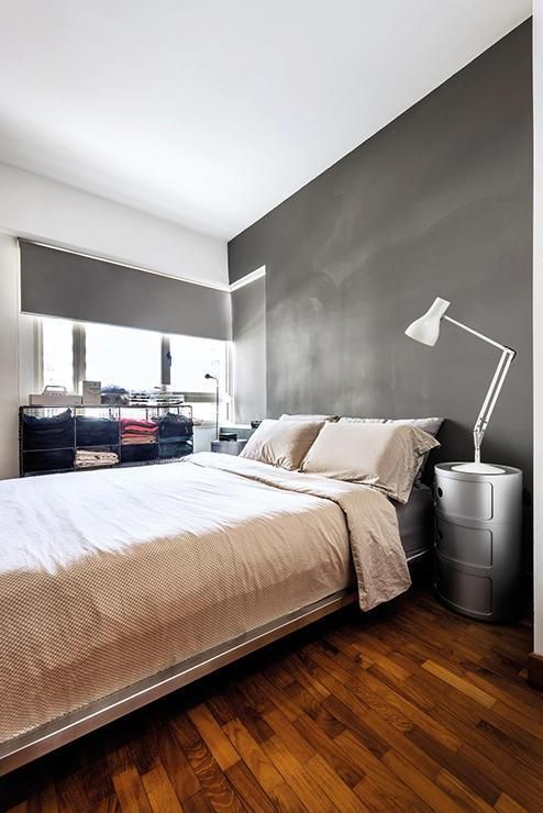 the couple is more comfortable with neutral shades as evidenced by the master bedroom the kartell bedside tables were picked for their rounded form