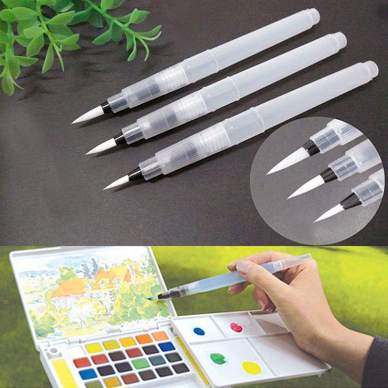 3pcs Ink Pen caligrafia cepillo de pintura de acuarela de agua para piloto de OE