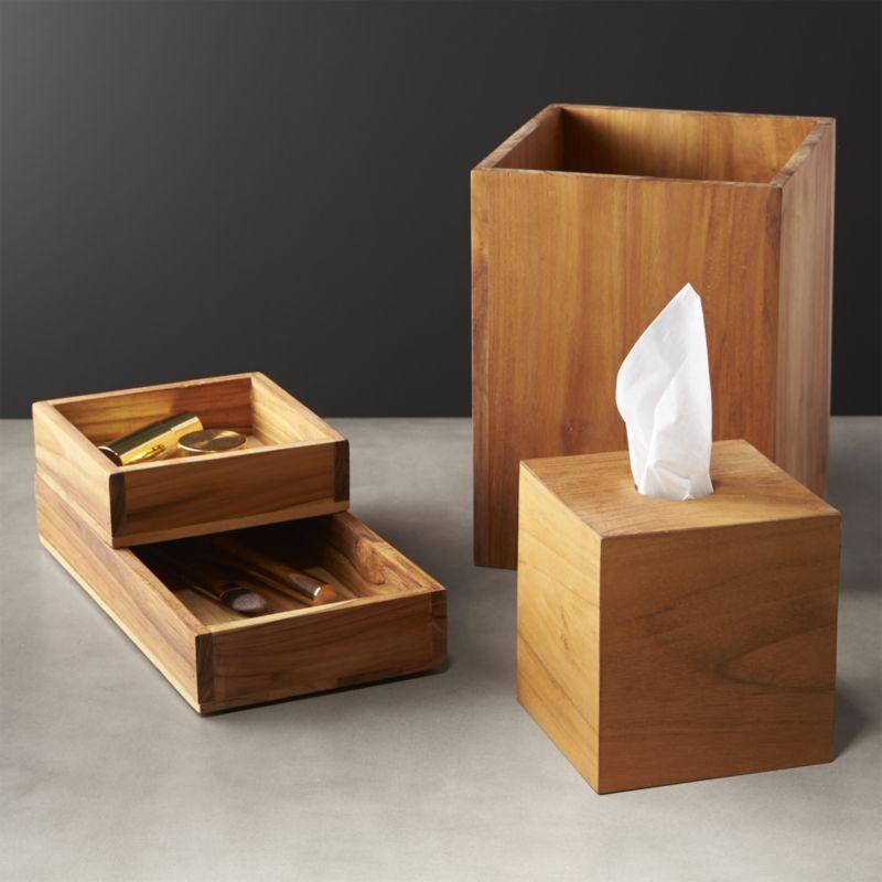 Shop Teak Bath Accessories Natural Teak Wood Delivers That Spa