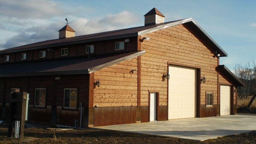 Barn look metal building gameroom shop pinterest for 1500 sq ft metal building