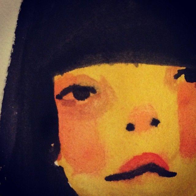 Little painted face #gouache #illustration