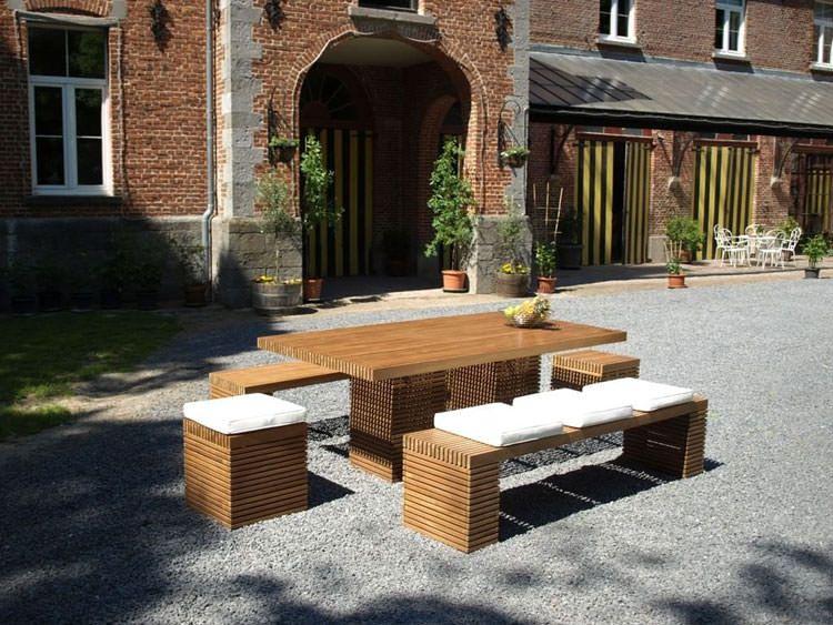 40 Foto di Tavoli da Giardino in Legno per Arredamento ...