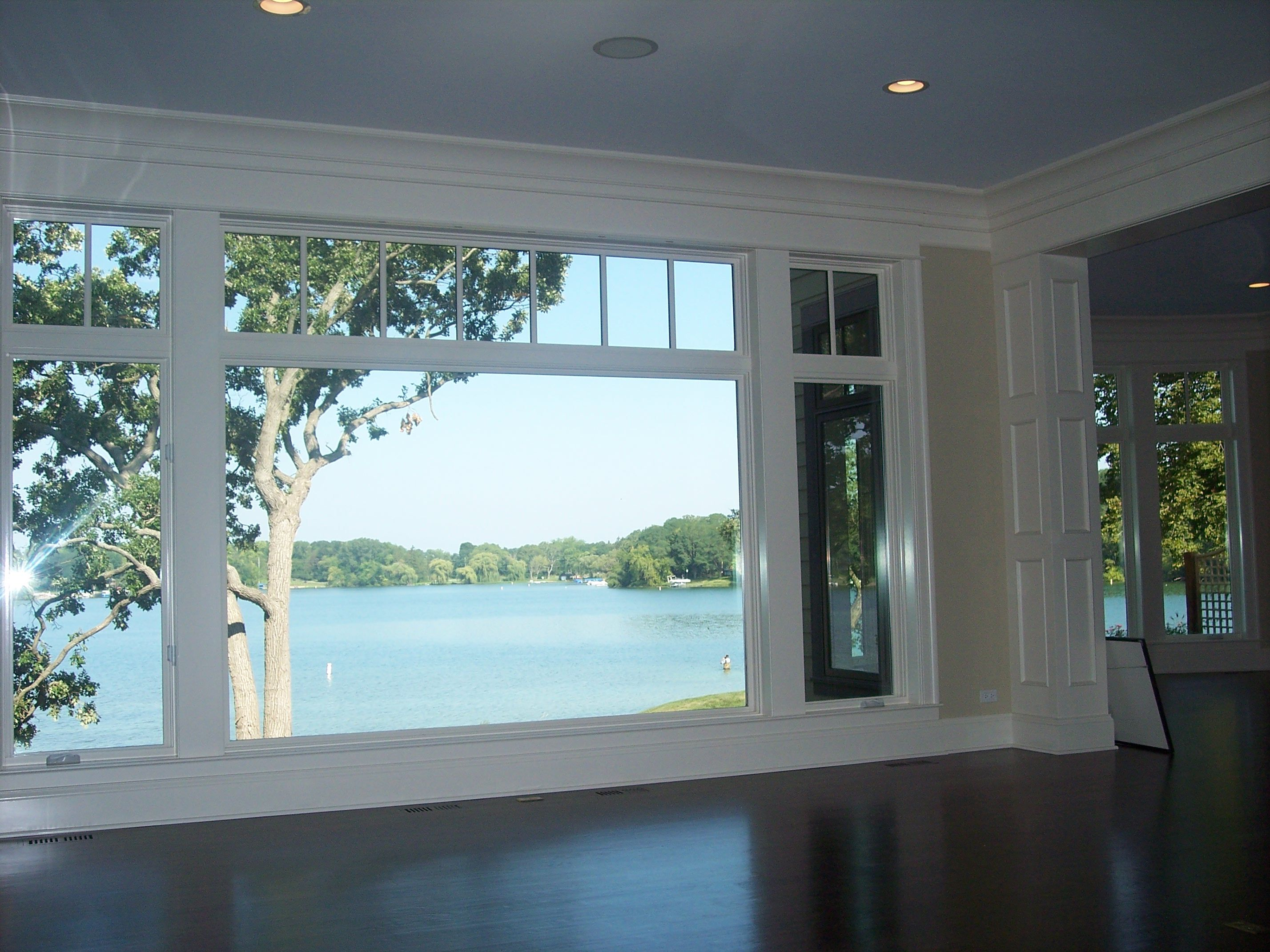 Living Room Lake View From Picture Window In Genoa City Wi Luxury